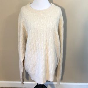 Lord and Taylor Mens cashmere sweater ivory large